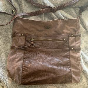 Roxy Brown Deep Crossbody Bag